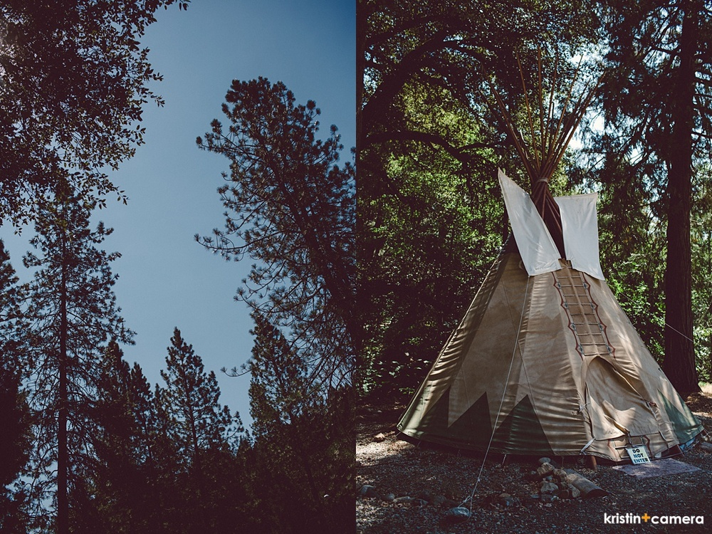 The outpost has teepees you can stay in.