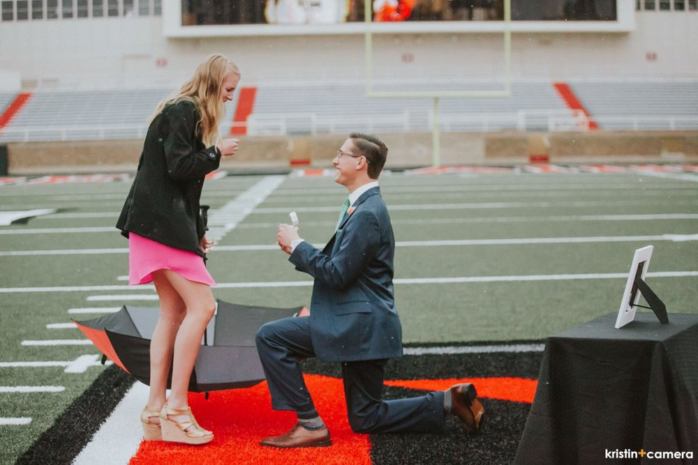 The One With A Proposal At Jones Stadium Kristin Bednarz Lubbock