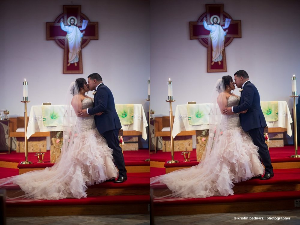 I do love a good sequence!  And I love how this priest stepped aside for this shot.  Such a great moment in a wedding and something every girls dreams about!  BRAVO!
