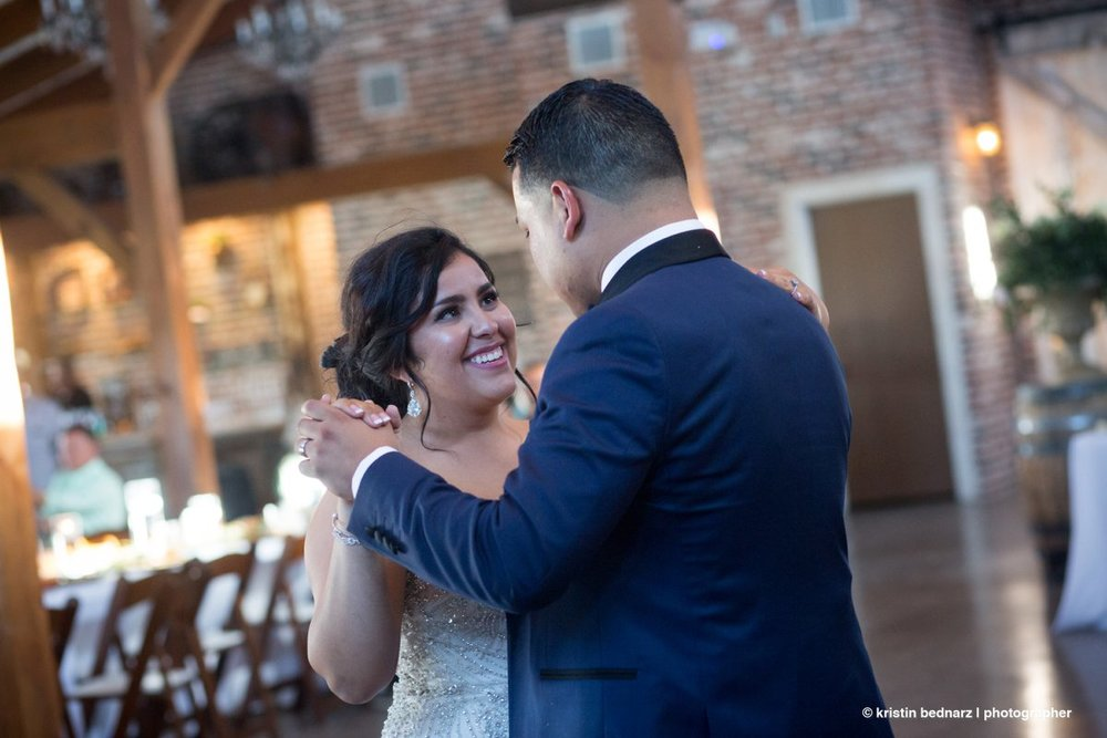 After the toasts, it was time to open the dance floor.  Lori + David Lee started it off.