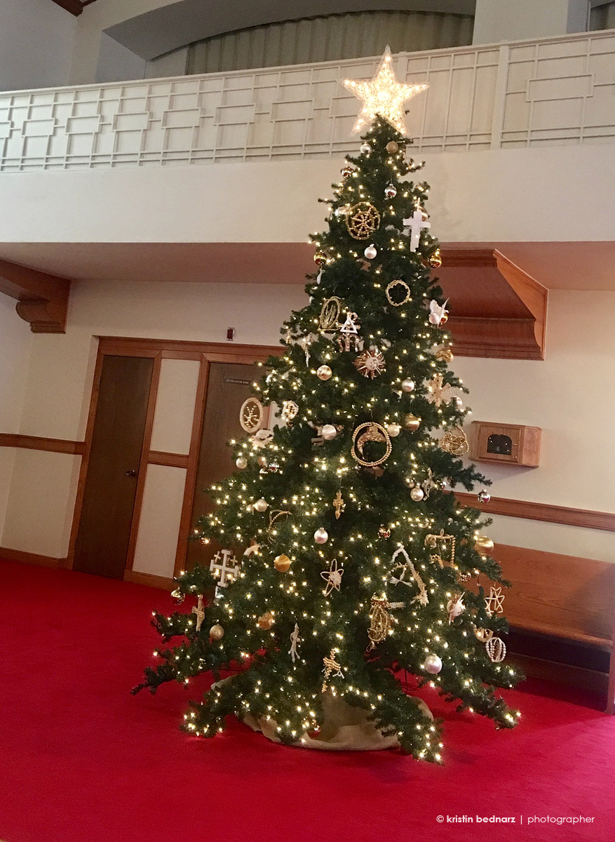 Our church has the most gorgeous tree!!!