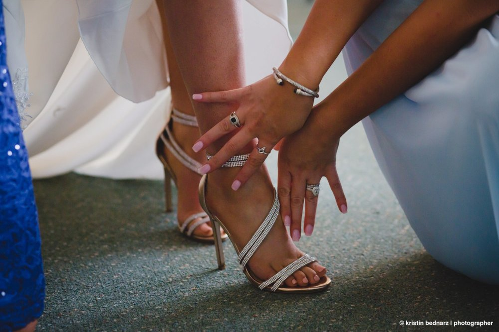Haley, her SIL helped her with her shoes and had to let her ring shine along with all that gorgeous BLING!