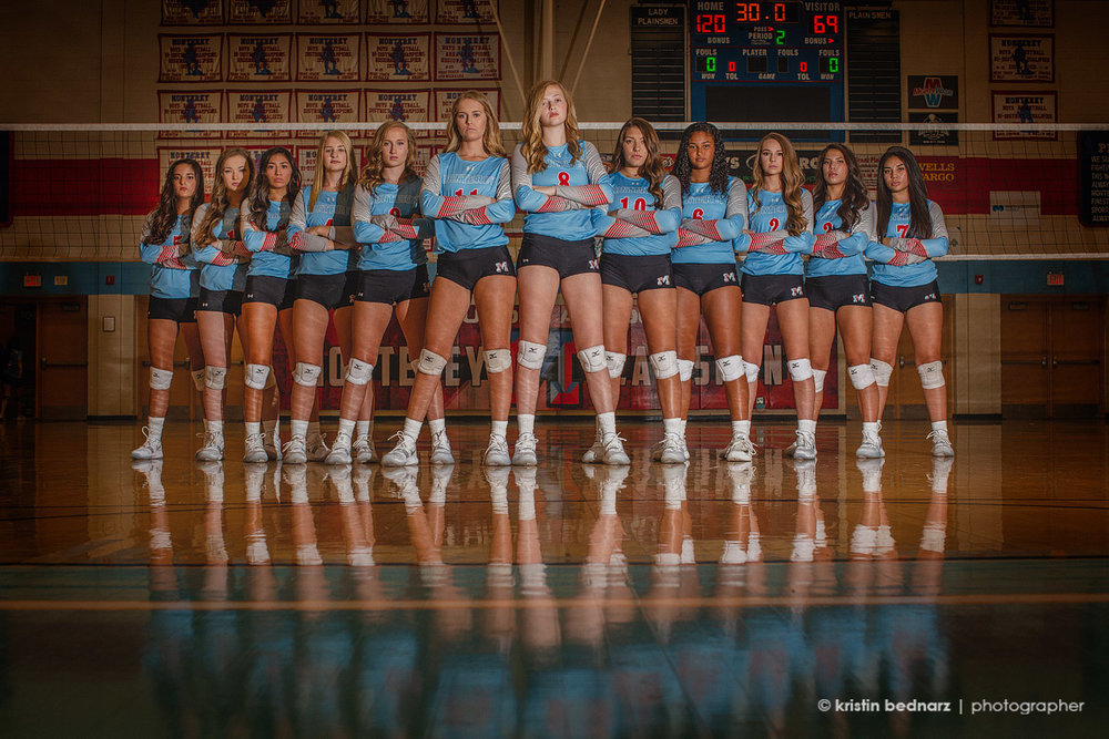 I worked with Monterey's Volleyball Team for their media guide.  Always a treat!