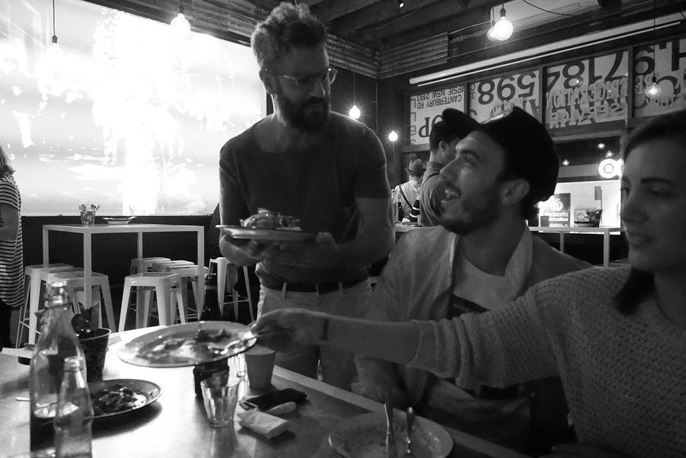 The way to a mans heart is through his stomach. Georges impressing Sasi with a plate of food.