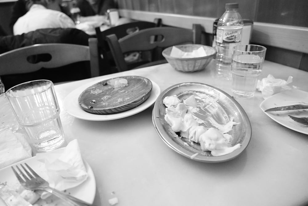 Empty plates at Taverna Iberia.jpg