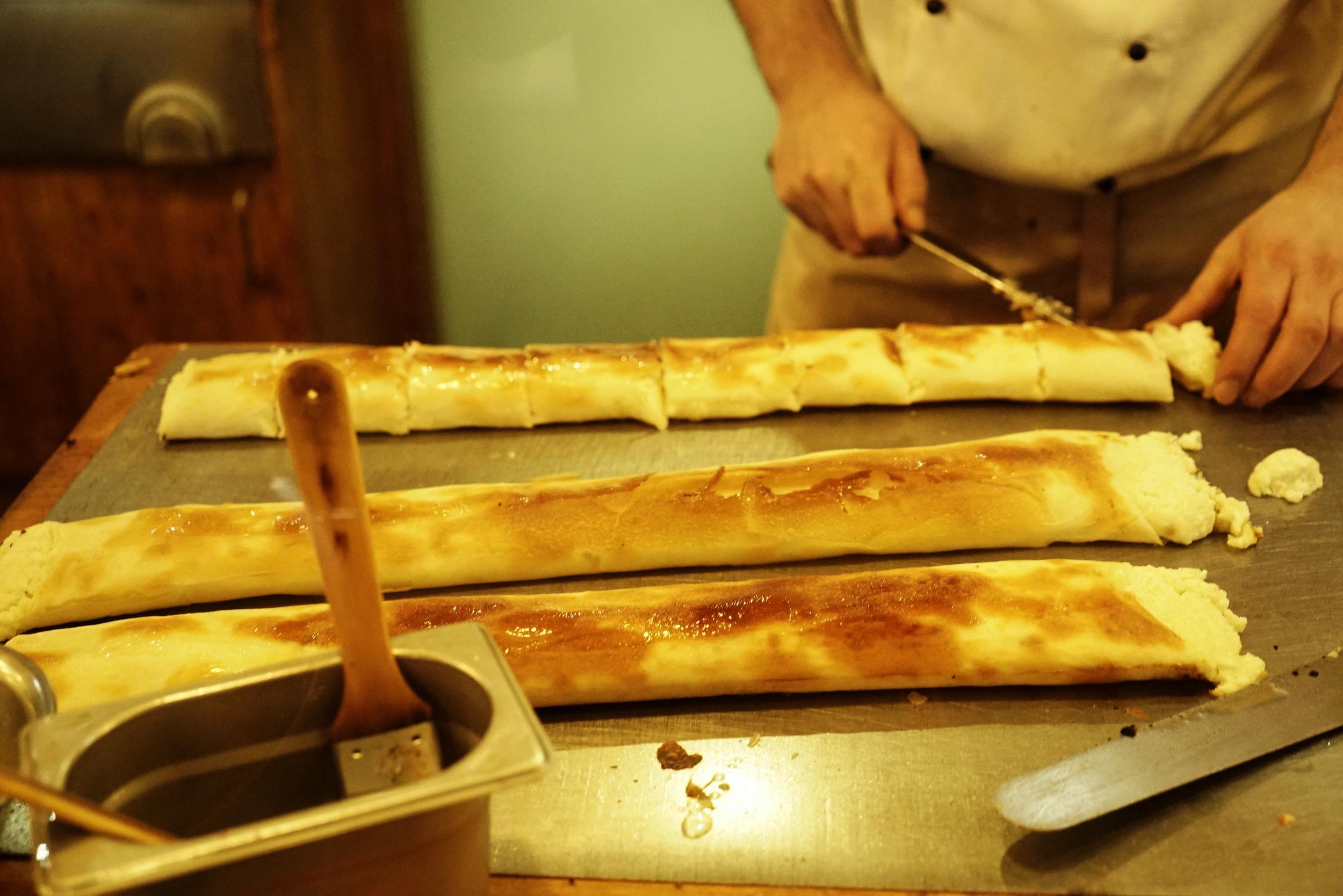 Making strudel in Budapest