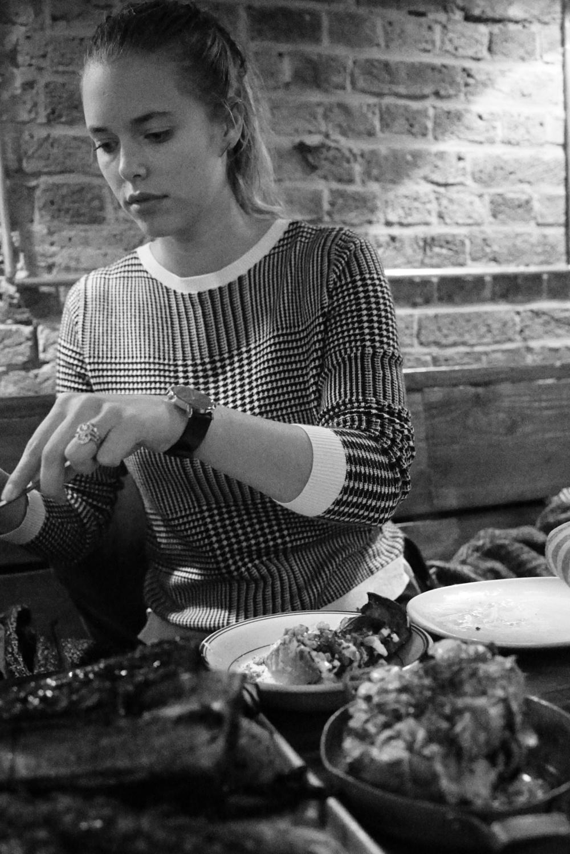 Girl Serving Food At Berber And Q