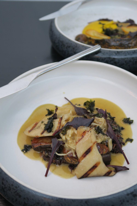 MISO EGGPLANT grains, mushrooms, kombu, garlic, sesame hummus.JPG