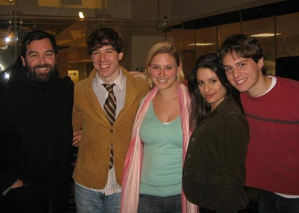 Laura with Duncan Sheik, John Gallagher Jr, Lea Michele, and Jonathan Groff
