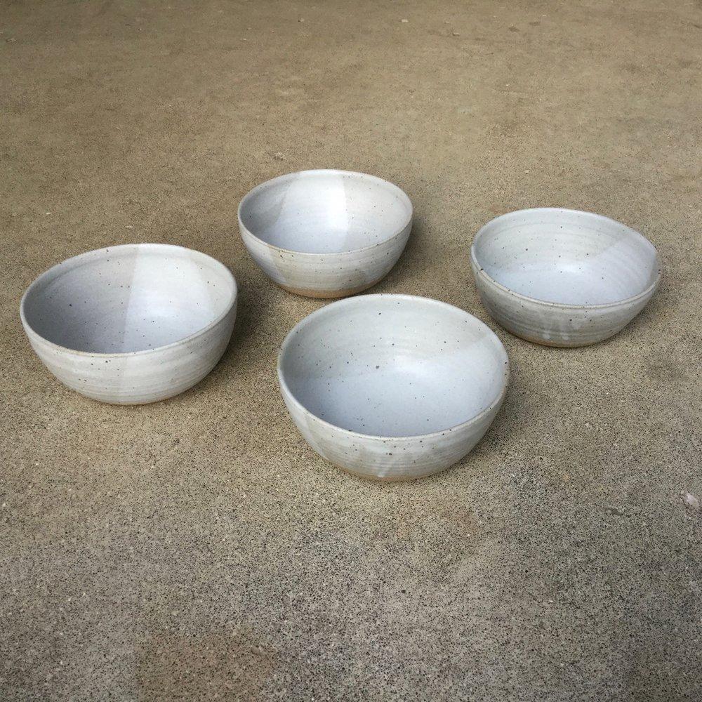 239 Four matte soup bowls side.jpg