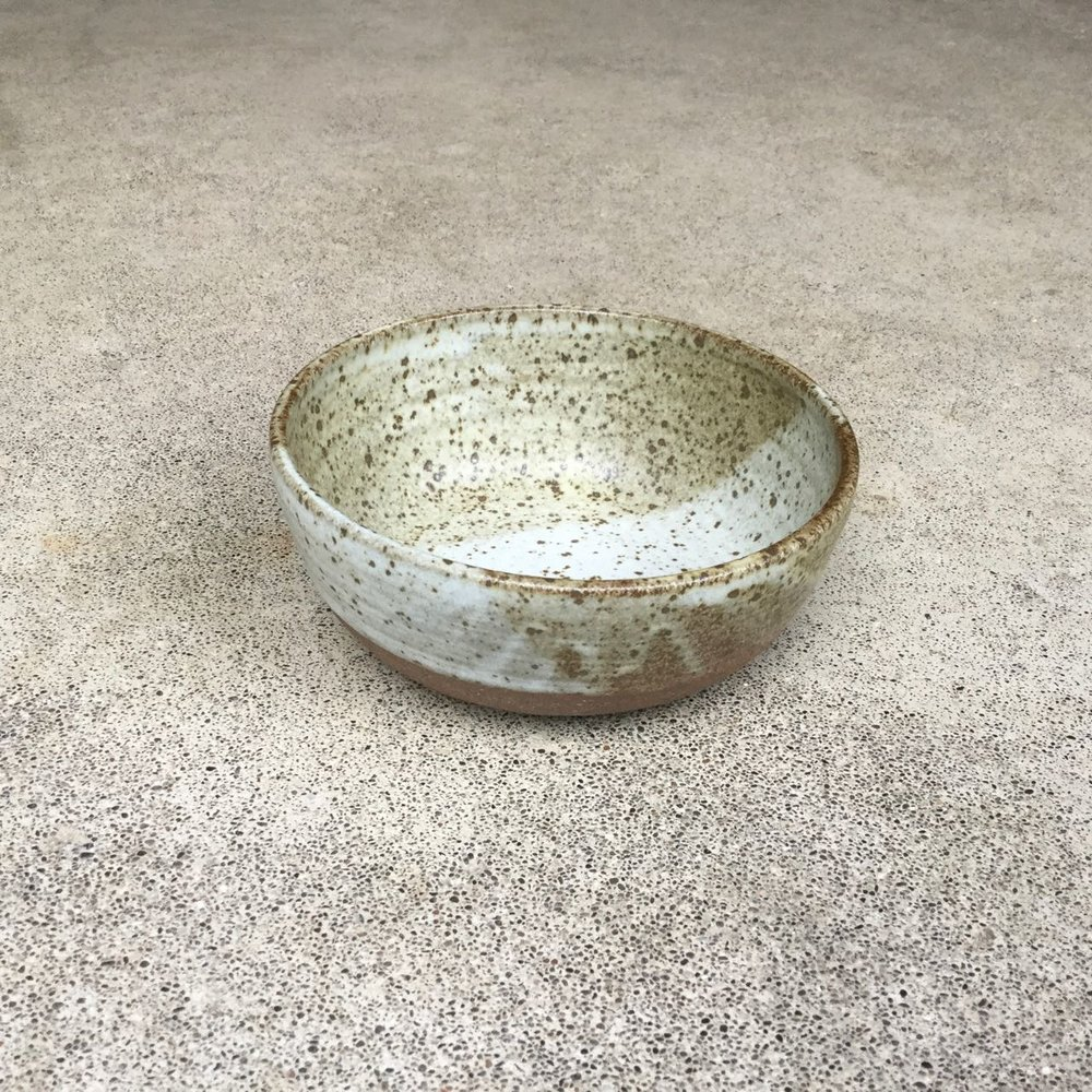 "Cereal/Soup Bowl  6"" wide, 2.5-3"" deep, $42 each Very speckled matte glaze shown"
