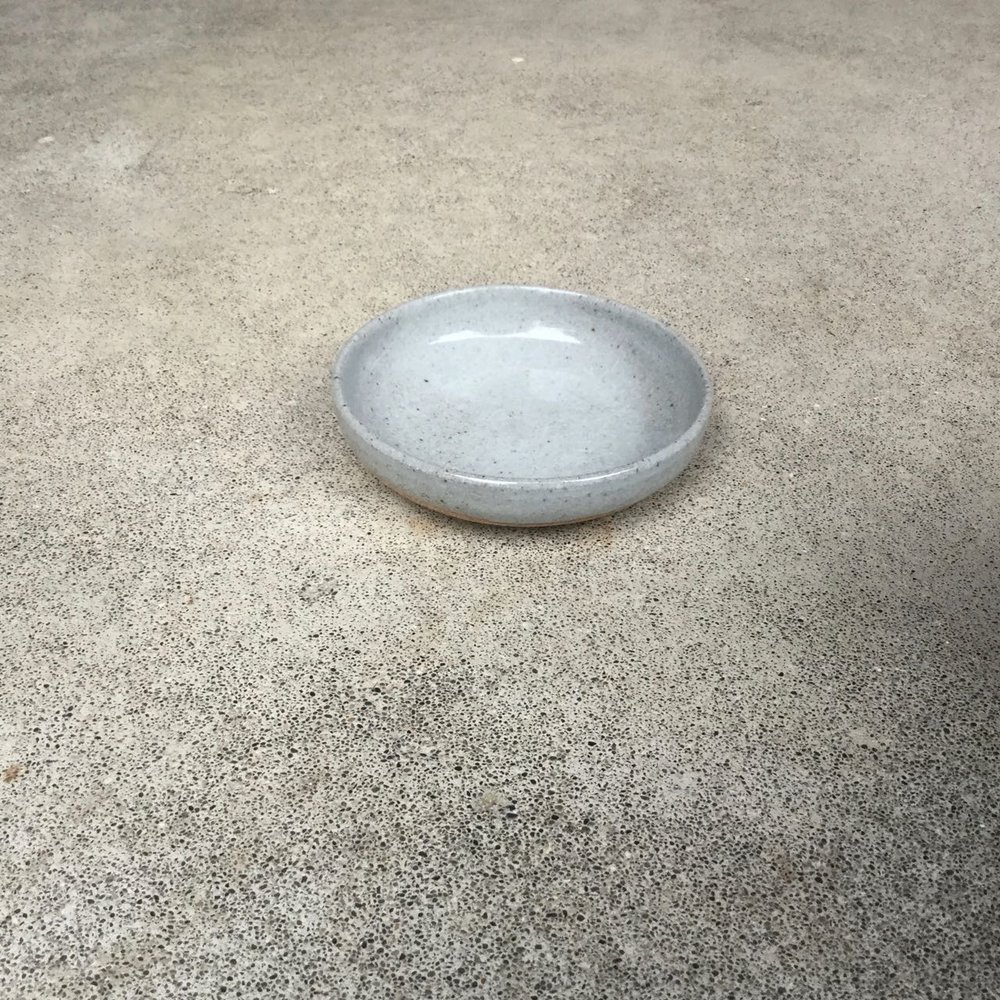"Pinch Bowl  3-4"" wide, 1-1.5"" deep, $24 each Glossy grey glaze shown"
