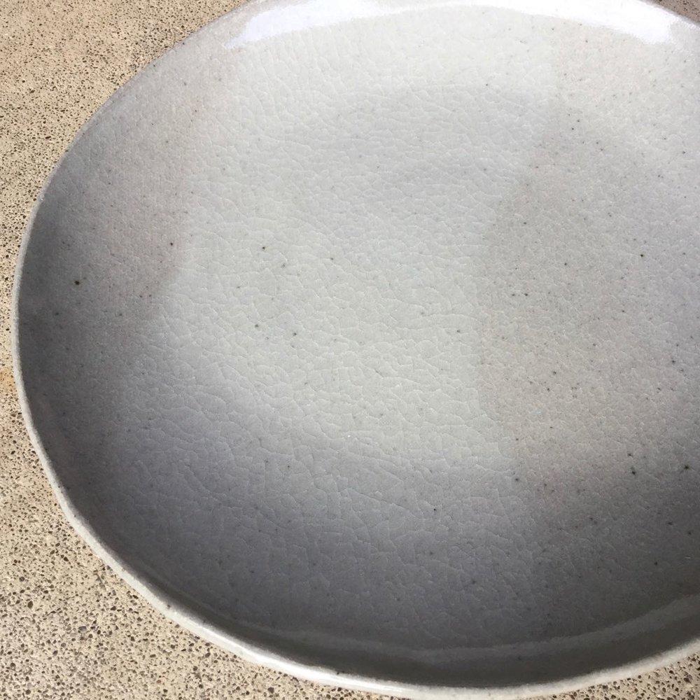 497 Pair dinner plates crackle.jpg