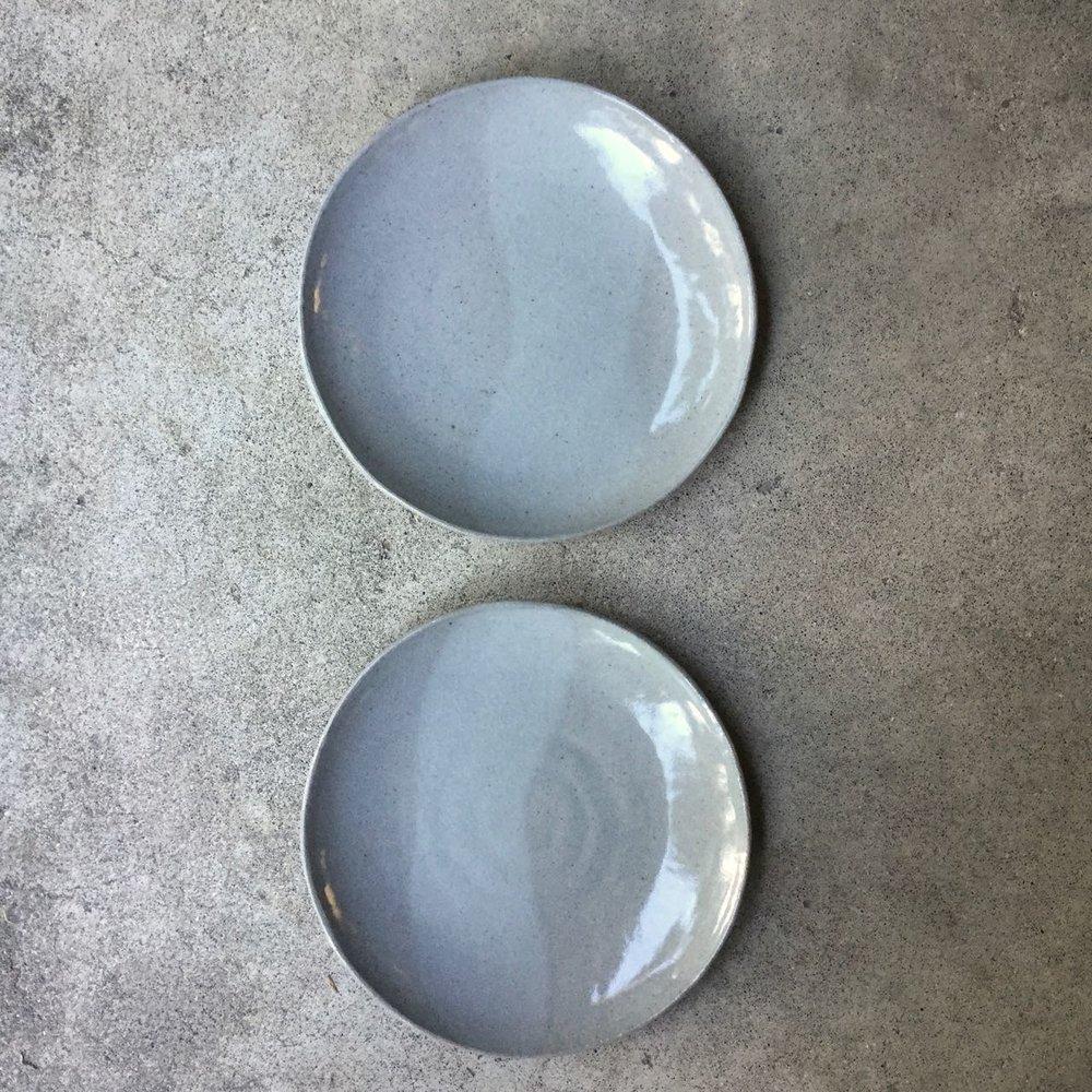 554 Pair glossy grey plates top.jpg