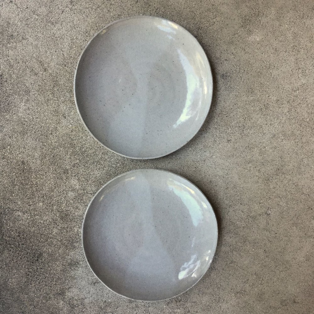 797 Pair glossy grey dinner plates top.jpg
