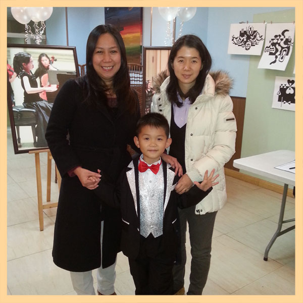 Cecilia Mag-isa Estoque, Jared Dong and Jing Shi (Jared's mom)