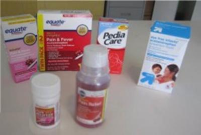 ACETOMENOPHEN       Pediacare (0-36mos) – http://www.pediacare.com/      • Advil (6-23mos)- http://www.advil.com/      • equate (2-11 yrs)     • Bio-Pharm    • Smart Sense    • Tylenol    • Walgreens (Chewable)    • Dye free