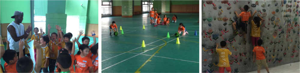 8.  PHYSICAL EDUCATION/SPORTS    体育 :   Develop strength, discipline, and endurance through drills and routines.  Be a team player and get fit. 通过操练和锻炼锻炼孩子们的体能、规律和耐力。成为团队协作者并保持健康