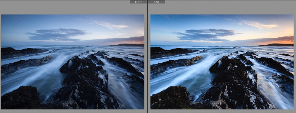 RAW file on left shows how RAW files initially lack sharpness, clarity and colour saturation whereas the image on the right consists of a much sharper image with better colour tonality.