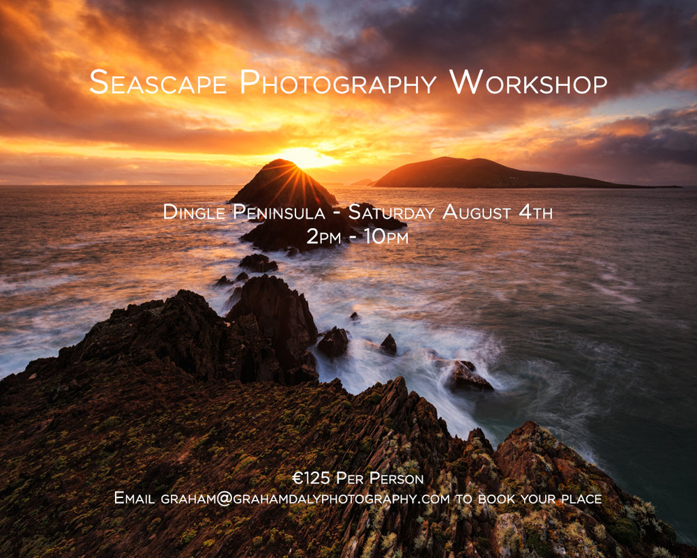 Dingle Seascape Photography Workshop Aug 3th 2018