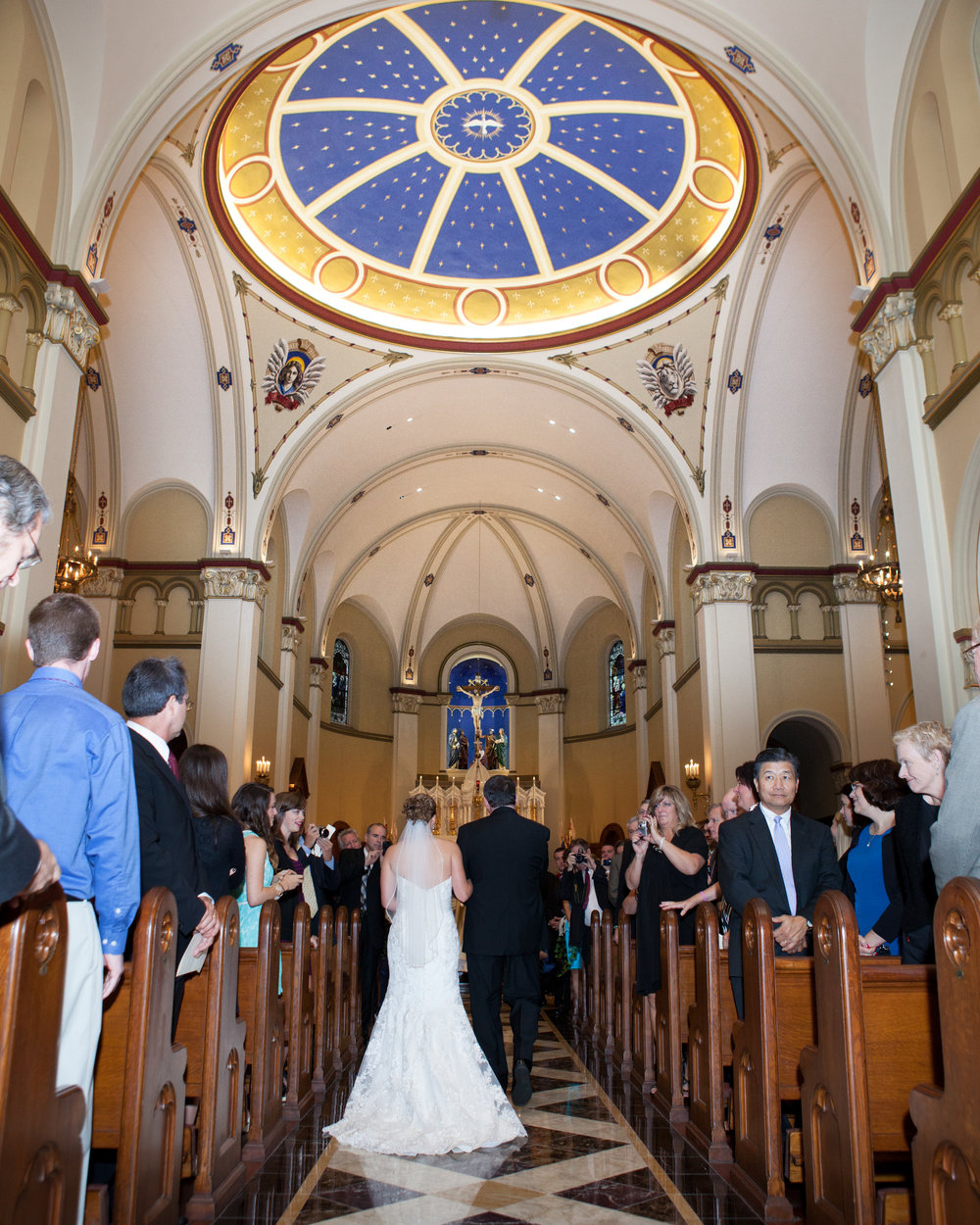 father of bride walking down aisle catholic mass wedding ceremony mount st marys immaculate conception chapel emmitsburg md.jpg