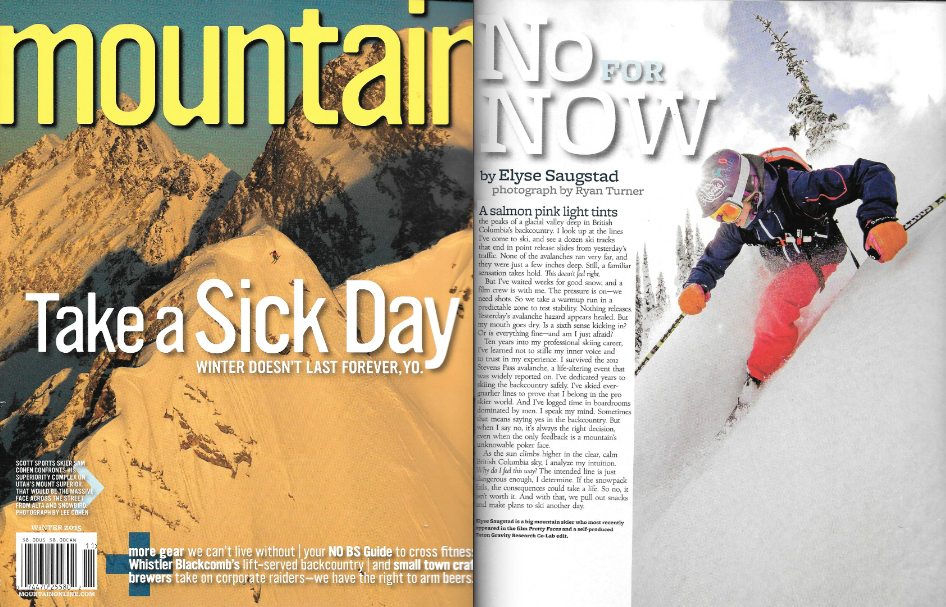Mountain Magazine Issue Winter 2015 - Mountain Voice by Elyse Saugstad