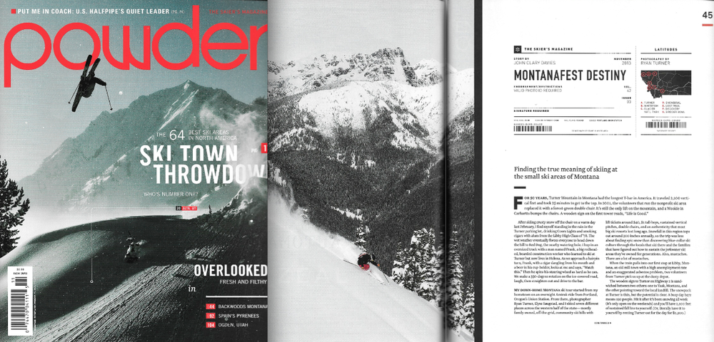 Powder Magazine Issue Nov 2013 - Montana Story featuring Elyse Saugstad