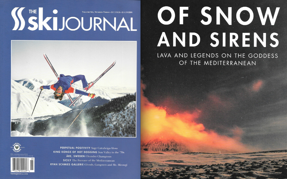 The Ski Journal Volume 6 Number 3 - Mt. Etna Story written by Elyse Saugstad, featuring Elyse Saugstad