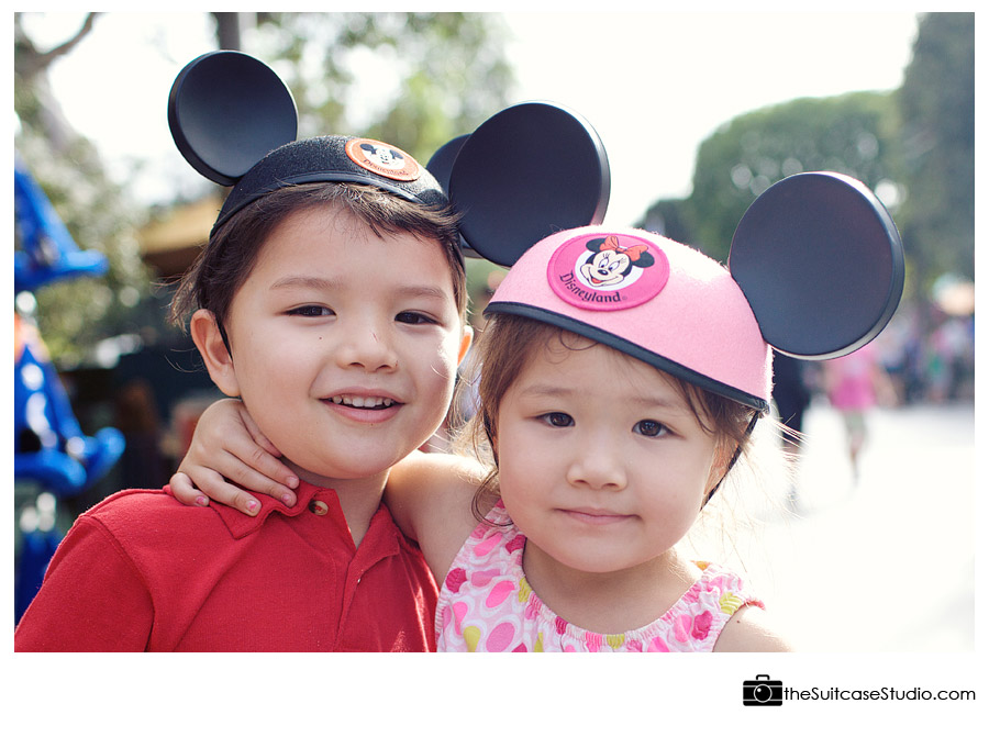 First Trip to Disneyland - Orange County Family Photography