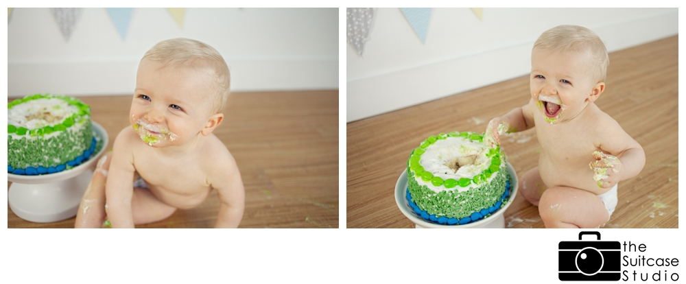 first year cake smash session in orange county