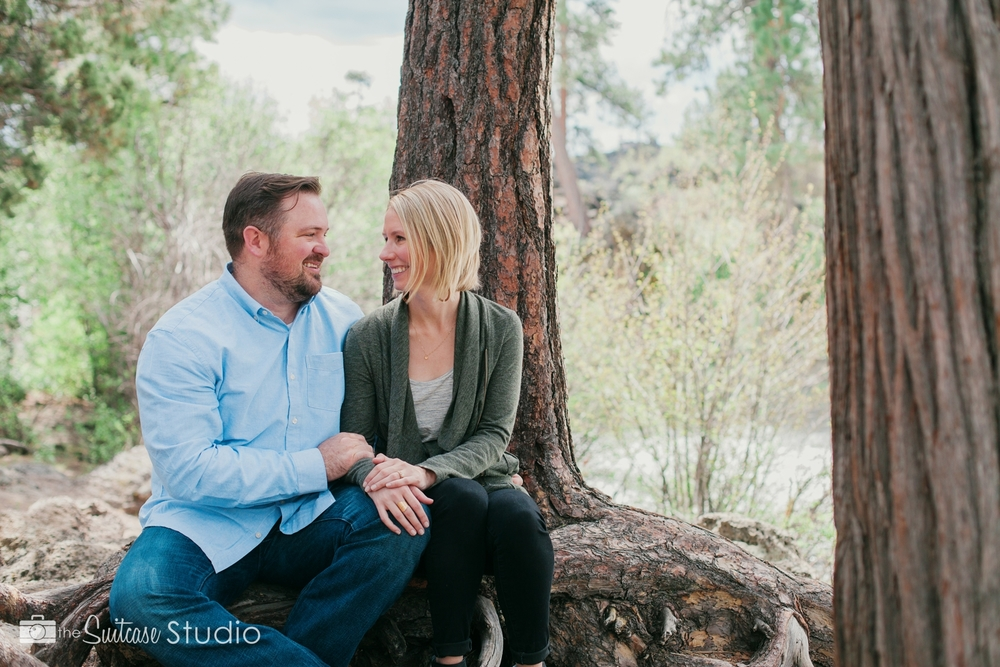 Bend, Oregon Lifestyle Wedding Photographer -  The Suitcase Studio - Engagement Photos at Dillon Falls - Deschutes Forest