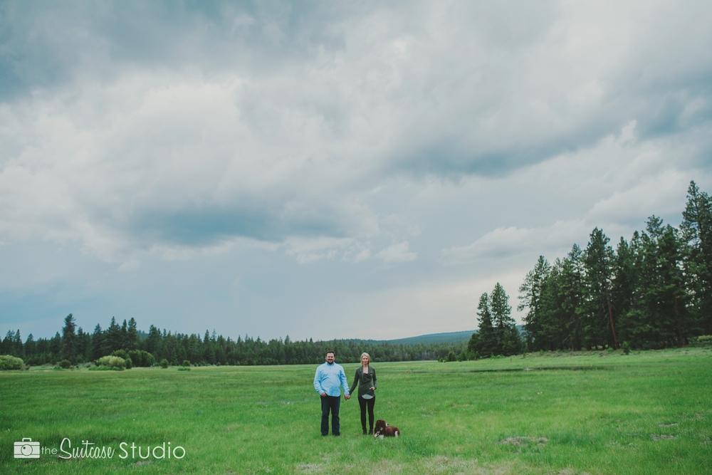 Bend, Oregon Lifestyle Wedding Photographer -  The Suitcase Studio - Engagement Photos at Dillon Falls - Deschutes Forest - Fun photo services