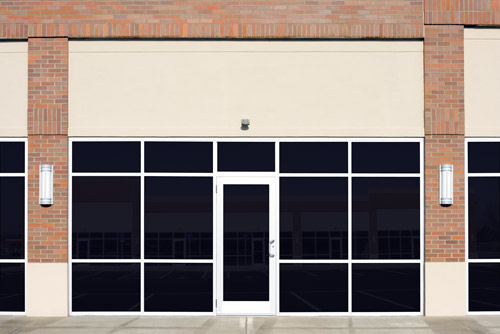 Gray Tinted Commercial Window