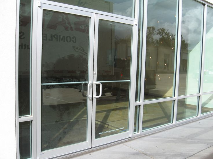 Aluminum Commercial Glass Door & Commercial Glass Door (Storefront Aluminum and Herculite u2014 Allnite ...
