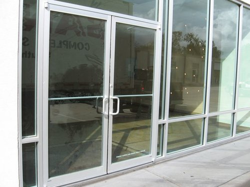Commercial Glass Door (Storefront Aluminum and Herculite — Allnite ...