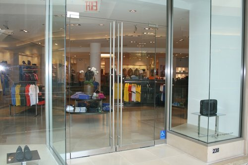 Commercial Glass Door Storefront Aluminum And Herculite Allnite