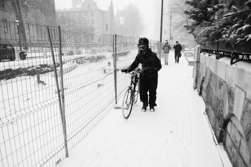 It's always cycling weather, as long as you dress for it.