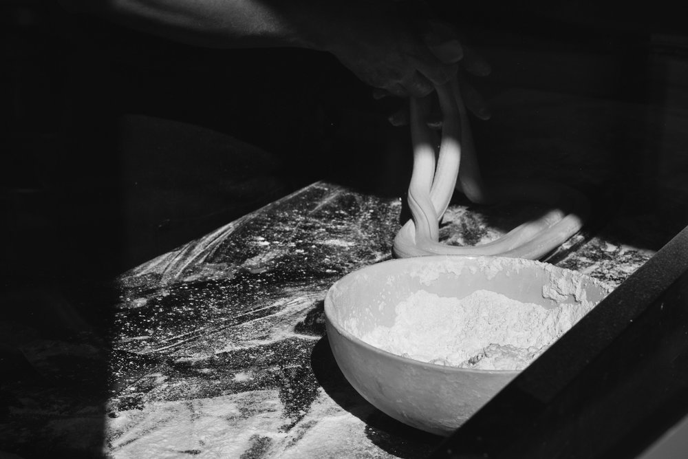 Making noodles at Le Mien