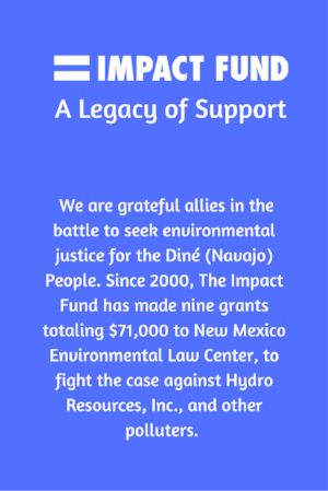 The Impact Fund has supported the fight with grants totaling $71K.