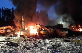 Tar sands crude has been known to explode in derailment incidents.