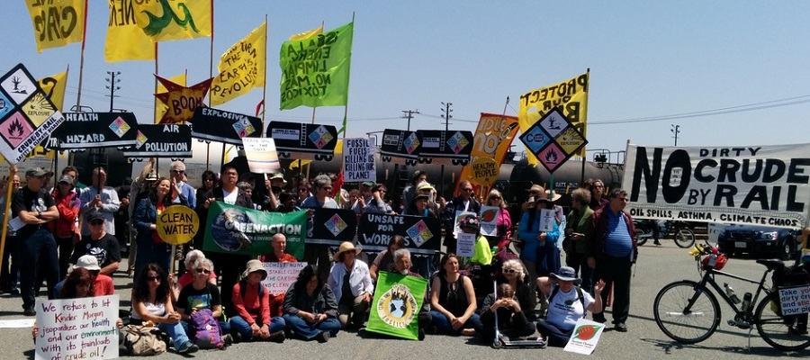 """""""This is a tremendous victory for people power over corporate power. Californians around the state have rejected these dangerous bomb train projects using local authority to defeat Big Oil's greedy plans."""" — Andres Soto, CBE Richmond Organizer"""