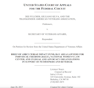 Our Amicus Brief argues that the VA's prohibition violates the Fifth Amendment