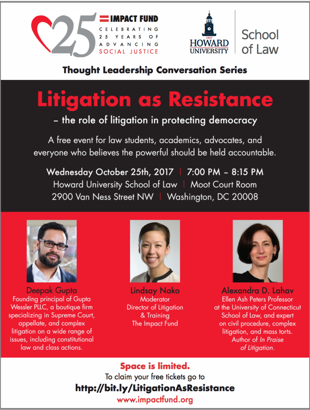 Litigation As Resistance Event Flyer.  Click here for PDF .