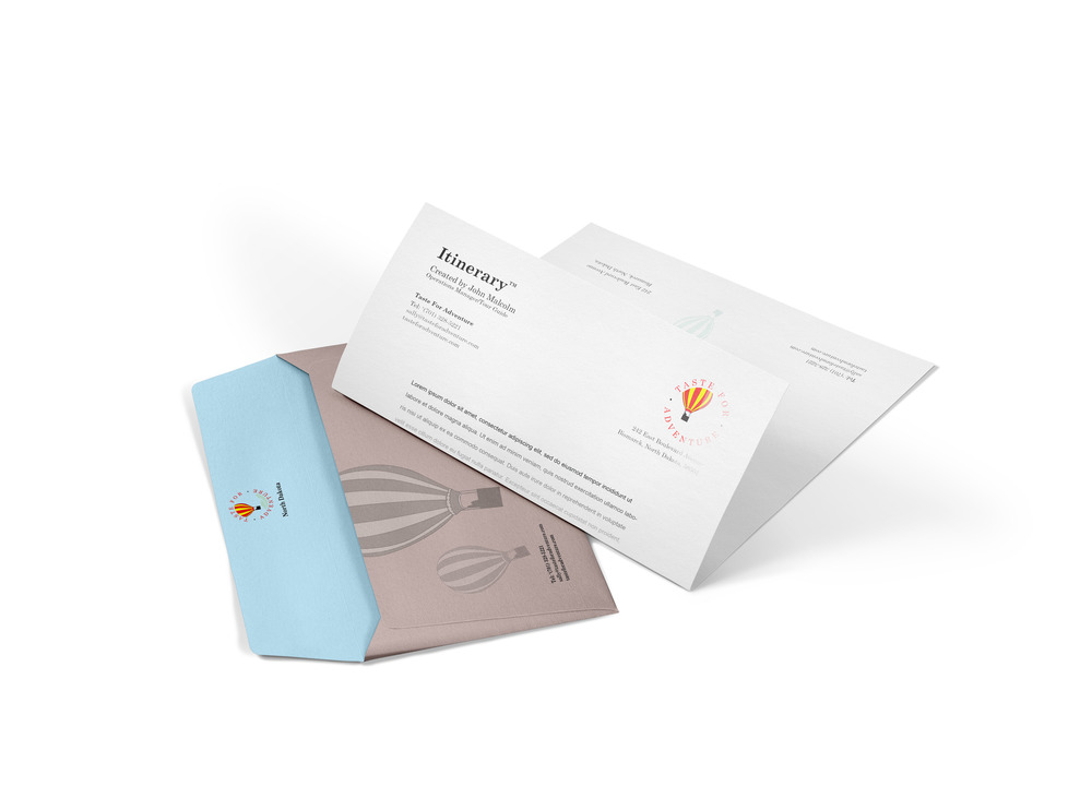 Envelope and Itinerary.jpg