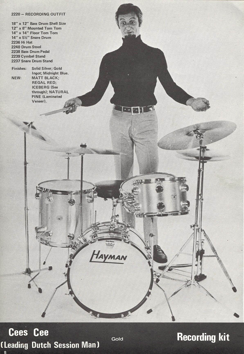 Hayman Vibrasonic Drums Piece Drum Set Diagram Premier 9 Peice Kit The Kits Were Marketed In Following Configurations Pacemaker 20 13 16 Snare Big Sound 22 Showman 22121316