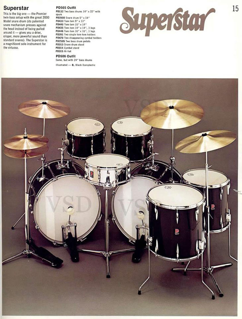 Vintage Drums Legendary Sounds Diagram Of A Drum Kit This Shows The Parts And Names Catalogue Stated That Were Available In Any Finish Despite Lug Design Differing Could Be Mixed With Those From