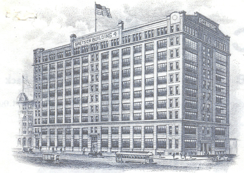 By 1916 the company had to expand again, so the ten-story Gretsch Building #4 was erected at 60 Broadway. It housed Gretsch instrument manufacturing operations for the next fifty years. Today it houses condominiums and office space.