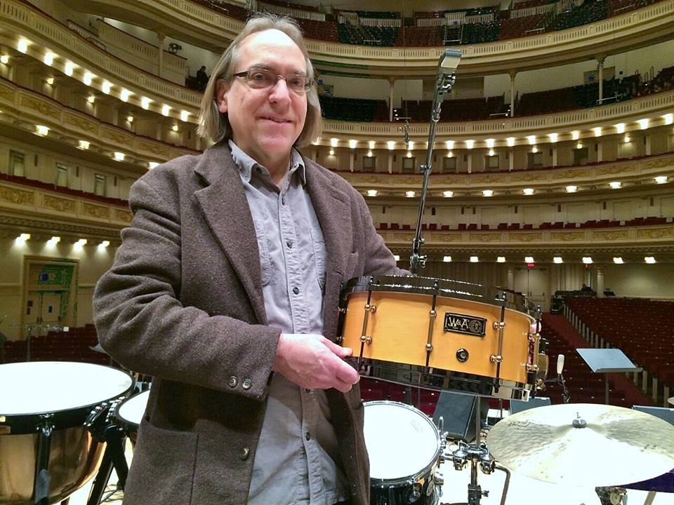 Grant Smith at Carnegie Hall w new W&A snare