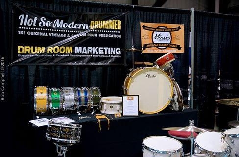 The Not So Modern Drummer booth at the Chicago Show, hosted by Aaron Mlasko/Mlasko Drums.