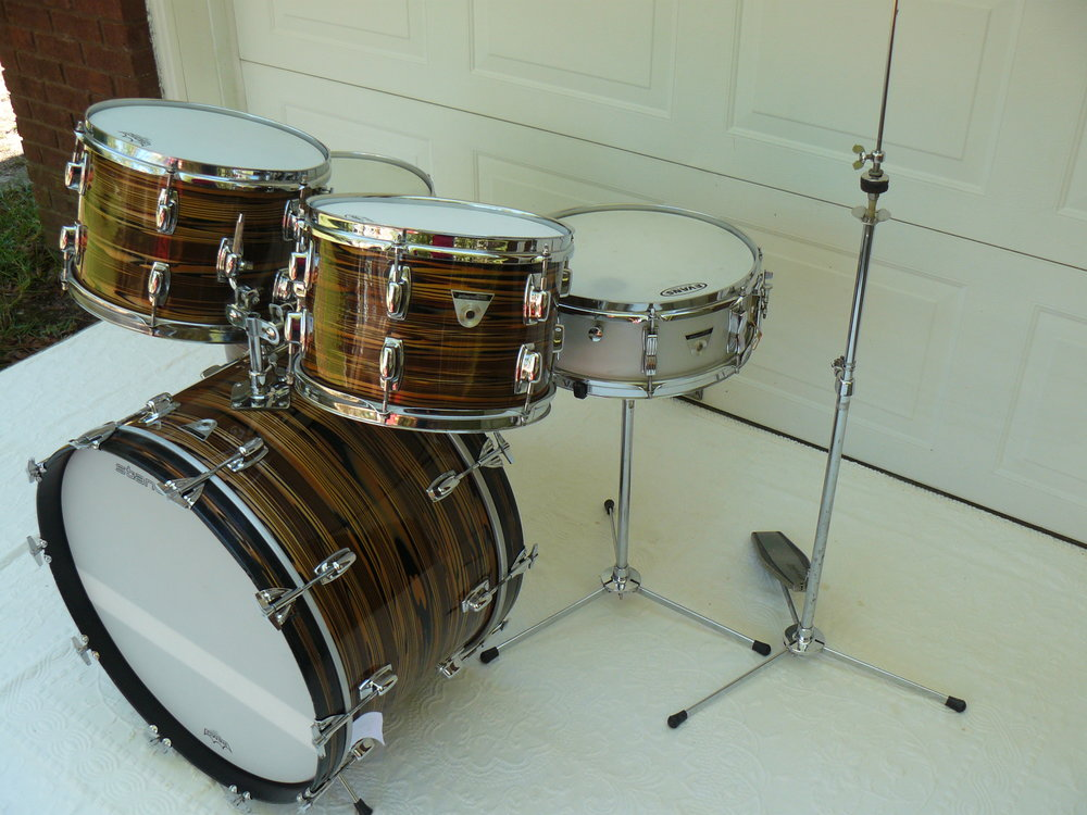 1970s Ludwig Standard S 330 Drum Set Finished In Bronze Strata